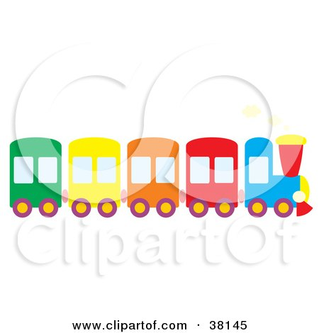 Clipart Illustration of a Colorful Train by Alex Bannykh