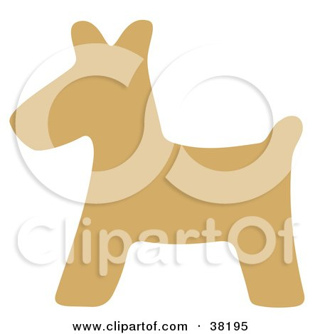 Clipart Illustration of a Brown Silhouetted Scottish Terrier by Alex Bannykh