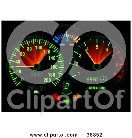 Royalty-Free (RF) Dashboard Clipart, Illustrations, Vector Graphics #1