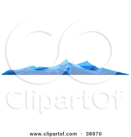 Clipart Illustration of Blue Choppy Waves On The Surface Of The Ocean by Tonis Pan