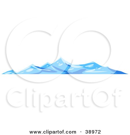 Clipart Illustration of Rough Blue Waves On The Surface Of The Sea by Tonis Pan