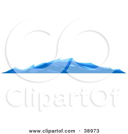 Clipart Illustration of Gentle Blue Waves On The Surface Of The Sea by Tonis Pan