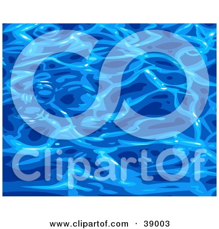 Clipart Illustration of a Background Of Rippling Blue Pool Water Reflecting Light At The Surface by Tonis Pan