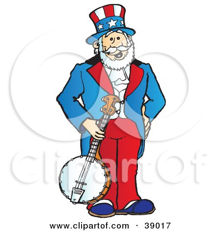 clipart illustration of uncle sam grinning and pointing outwards by rh clipartof com Bald Eagle Flag Clip Art Uncle Sam Poster