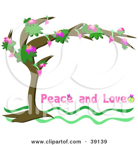 peace and love clip art