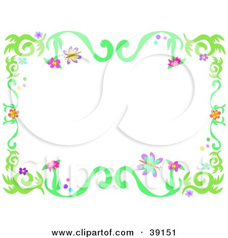 Picture Flower on Flowers Border Background Flower Greeting Cardcurrently Displaying