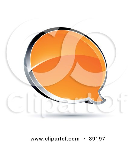 Royalty free rf clipart of text balloons illustrations - Chat orange ...