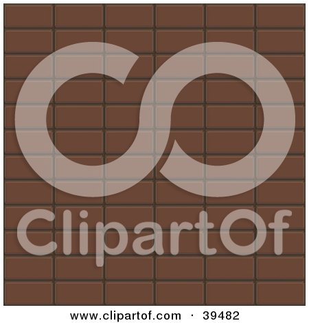 Clipart Illustration of a Background Of Chocolate Candy Bars by Arena Creative