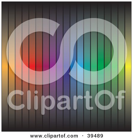 Clipart Illustration of a Rainbow Colored Bar Background by Arena Creative