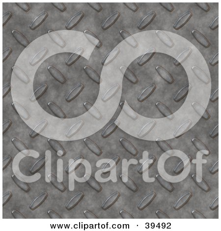Clipart Illustration of a Textured Diamond Plate Metal Background by Arena Creative