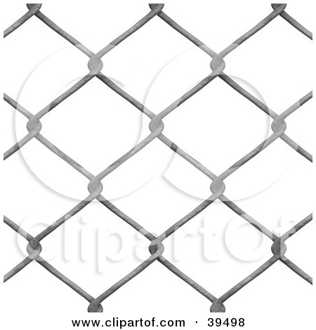 Clipart Illustration of a Chain Link Fence Background On White by Arena Creative