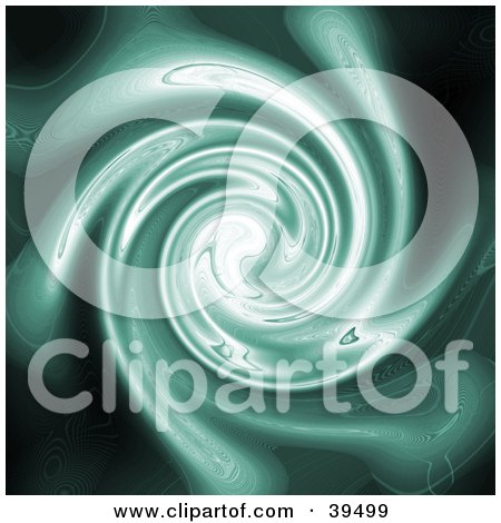 Clipart Illustration of a Spiraling Green Plasma Background by Arena Creative
