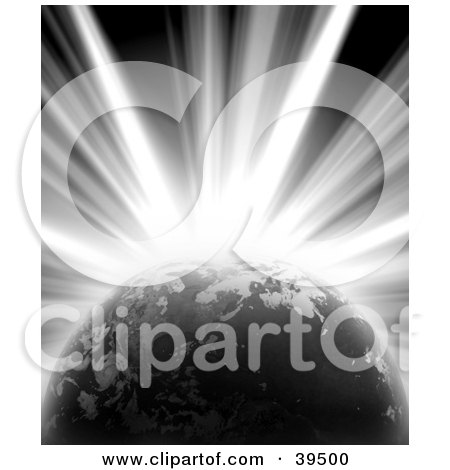Bright Burst Of Light Emerging From Behind Planet Earth Posters, Art Prints