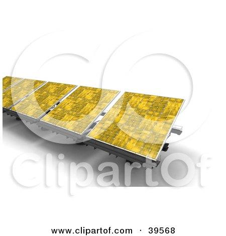 Clipart Illustration of Yellow Solar Energy Panels by Frank Boston
