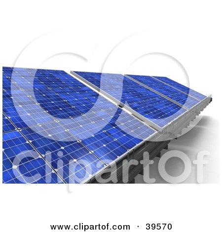 Clipart Illustration of Energy Solar Panels In Blue by Frank Boston