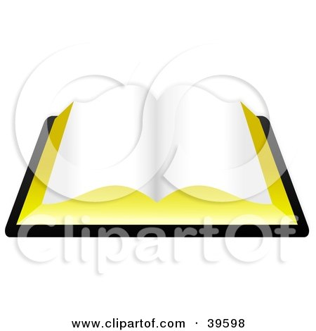 Clipart Illustration of a Blank Open Book, Or The Holy Bible by Prawny