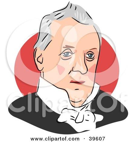 Clipart Illustration of American President James Buchanan by Prawny