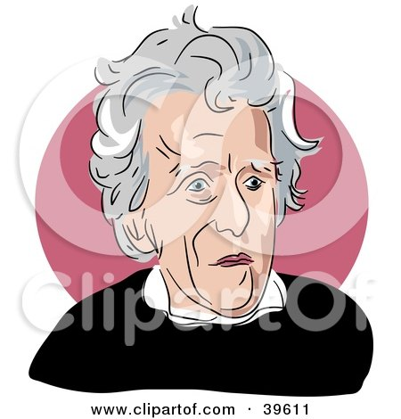 Clipart Illustration of American President Andrew Jackson by Prawny