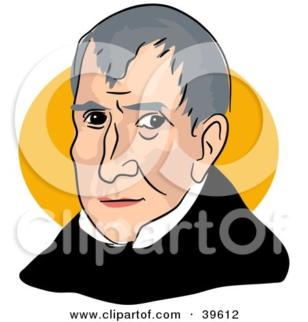 Clipart Illustration of American President William Henry Harrison by Prawny