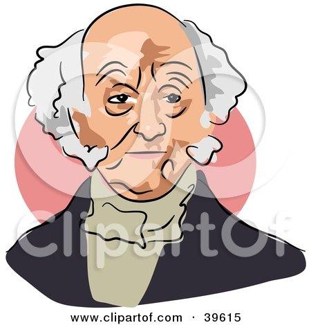 Clipart Illustration of American President Martin Van Buren by Prawny
