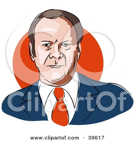 Clipart Illustration of American President Gerald Ford by Prawny