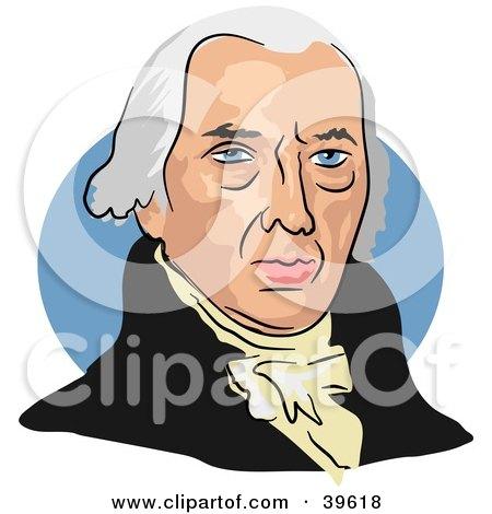 Clipart Illustration of American President James Madison by Prawny