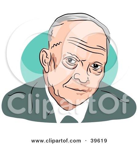 Clipart Illustration of American President Dwight Eisenhower by Prawny