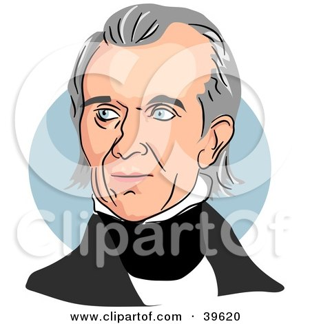 Clipart Illustration of American President James Knox Polk by Prawny