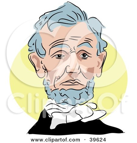 Clipart Of Abraham Lincoln Giving A Speech Royalty Free