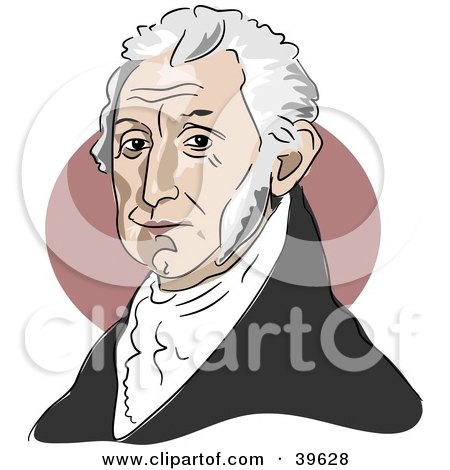 Clipart Illustration of American President James Monroe by Prawny