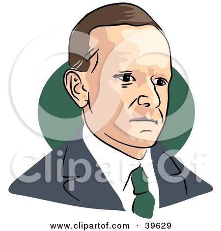 Clipart Illustration of American President Calvin Coolidge by Prawny