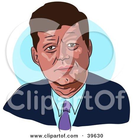 Clipart Illustration of American President John F. Kennedy by Prawny
