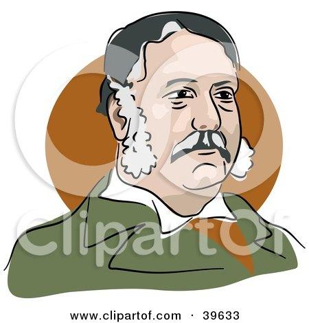 Clipart Illustration of American President Chester Arthur by Prawny