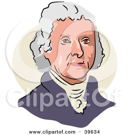 Clipart Illustration of American President Thomas Jefferson by Prawny