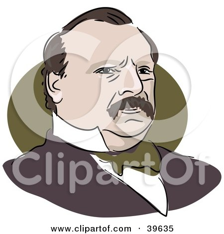 Clipart Illustration of American President Grover Cleveland by Prawny