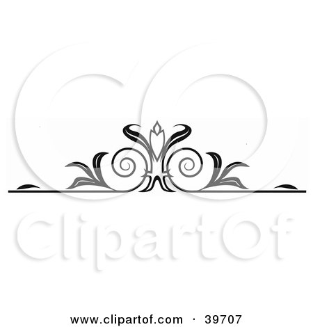 Clipart Illustration of a Black Candle Lower Back Tattoo Or Website Header Design Element by dero