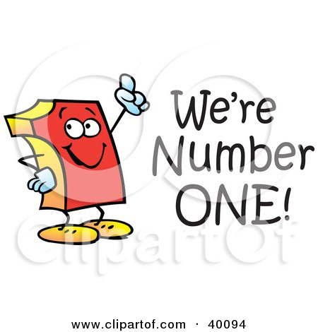 40094-Clipart-Illustration-Of-A-Red-Number-One-With-Were-Number-One-Text.jpg
