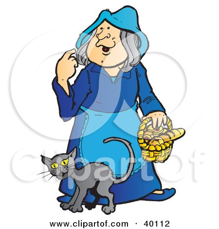 Royalty-Free (RF) Clipart Illustration of a Green Witch Riding A ...