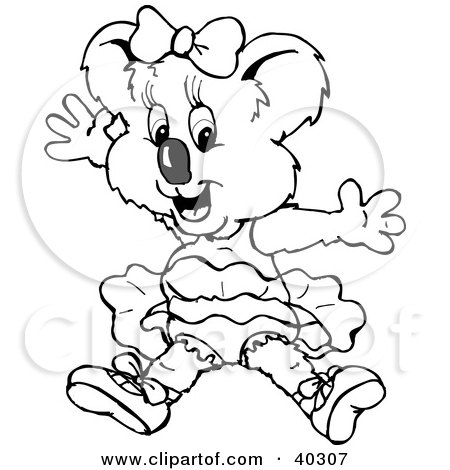 Coloring Book Pages on Clipart Illustration Of A Black And White Coloring Book Page Of A