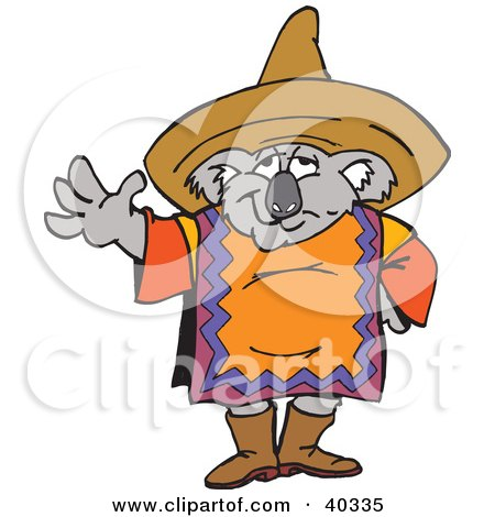 Mexican Koala In A Poncho And Sombrero Posters, Art Prints