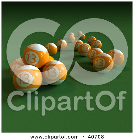 Pool Table Balls Scattered Royalty-Free (RF) Bill...