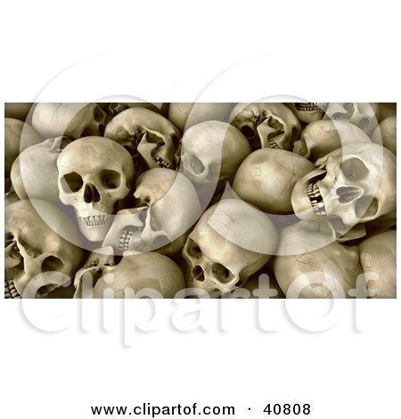 Background Of Human Skull Remains With Teeth Posters, Art Prints