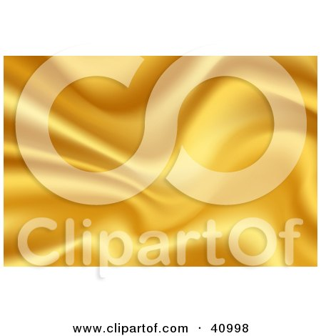 Clipart Illustration of a Background Of Yellow Wavy Satin by Tonis Pan