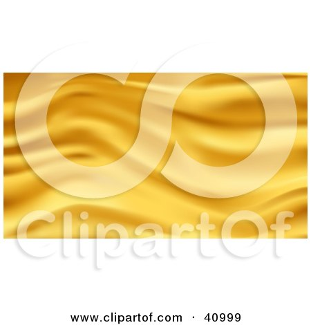 Clipart Illustration of a Background Of Gold Wavy Silk by Tonis Pan