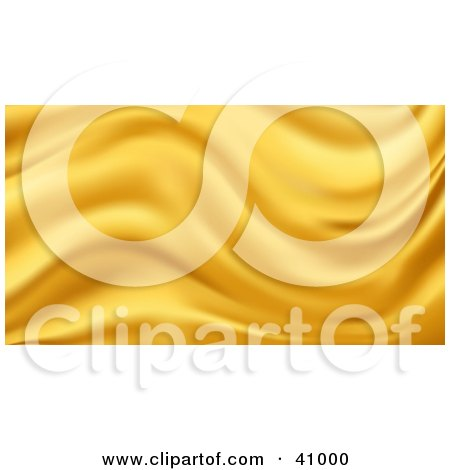 Clipart Illustration of a Background Of Golden Wavy Silk by Tonis Pan
