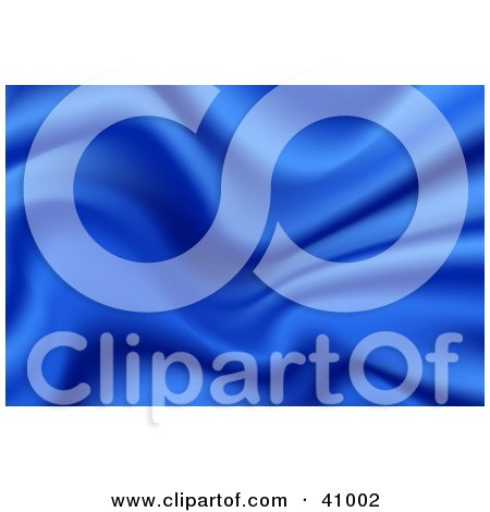Clipart Illustration of a Background Of Blue Wavy Satin by Tonis Pan