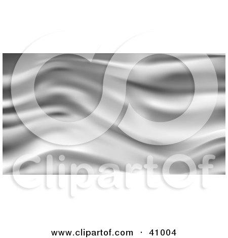 Clipart Illustration of a Background Of Silver Wavy Silk by Tonis Pan