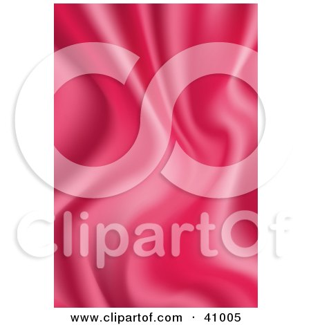 Clipart Illustration of a Background Of Pink Wavy Satin by Tonis Pan