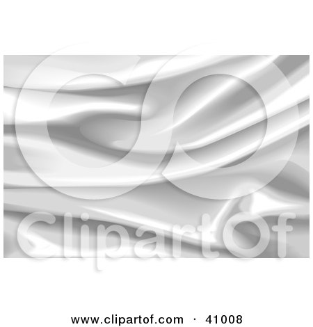 Clipart Illustration of a Wavy Silver Silk Background by Tonis Pan