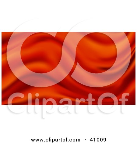 Clipart Illustration of a Background Of Red Wavy Satin by Tonis Pan